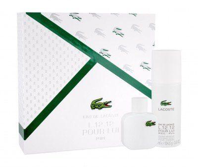 Lacoste Eau De L.12.12 Blanc zestaw 50 ml Edt 50 ml + Dezodorant 150 ml dla mężczyzn