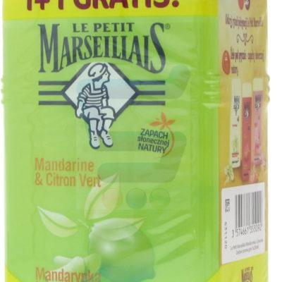 Le Petit Marseiliais Żel pod prysznic delikatny Mandarynka i Limonka 2 x 250 ml