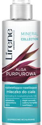 Lirene Lirene Mineral Collection Rozświetlająco-nawilżające mleczko do ciała alga purpurowa 200ml