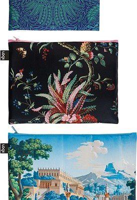 Loqi Saszetki Zip Pockets 3 szt. x MAD Japanese, Arabesque, Landscape ZP.MU.MA1