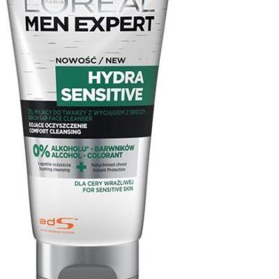 Loreal Paris Paris Men Expert Hydra Sensitive kojący żel do mycia twarzy 100ml