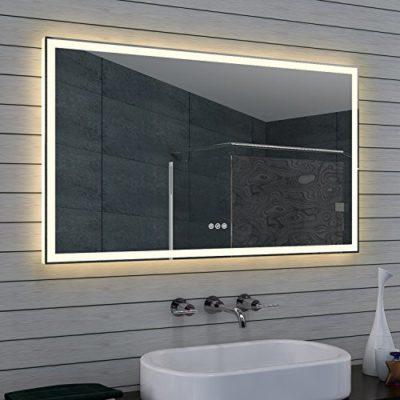 Lux-aqua Design Lustro łazienkowe z możliwością przyciemniania, ciepła i zimna biel i przełącznikiem Touch 120x 70cm ML120B70H