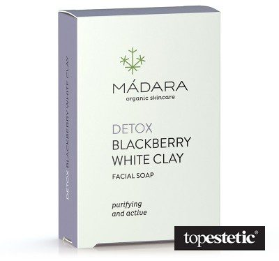 MADARA Detox Blackberry White Clay Soap Oczyszczające mydło do mycia twarzy - Jeżyny i biała glinka 70 g