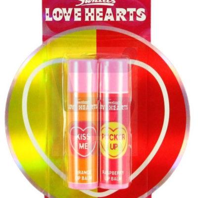 Makeup Revolution Love Hearts Balm Lip Duo Balsam do ust Raspberry + Balsam do ust Orange 1 sz.