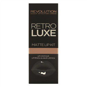 Makeup Revolution RETRO LUXE MATTE LIP KITS ZESTAW DO UST -KONTURÓWKA +BŁYSZCZYK MAGNIFICENT