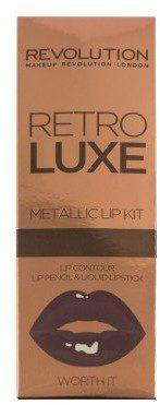 Makeup Revolution Zestaw do makijażu ust - Retro Luxe Metallic Lip Kit Zestaw do makijażu ust - Retro Luxe Metallic Lip Kit