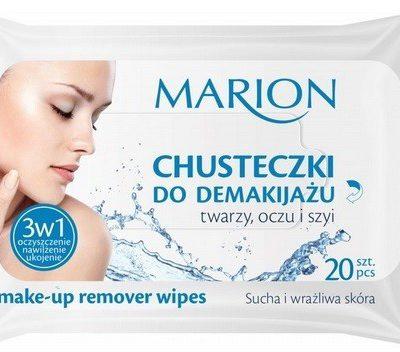 Marion Chusteczki do demakijażu twarzy oczu i szyi do skóry suchej i wrażliwej 20szt