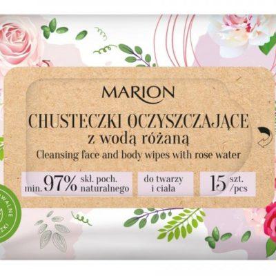 Marion Chusteczki oczysz.z wodą różaną 15 szt