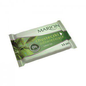Marion Chusteczki odświeżające Green Tea o zapachu zielonej herbaty 1op-15szt