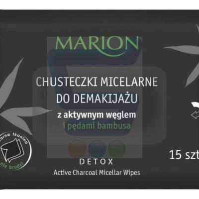 Marion Detox Aktywny Węgiel Chusteczki micelarne do demakijażu 15 szt.