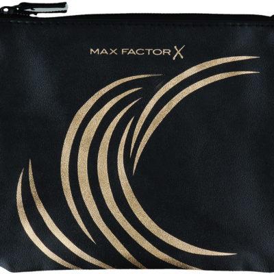 Max Factor Max Factor Make Up Bag Kosmetyczka Na Zamek Czarno-Złota