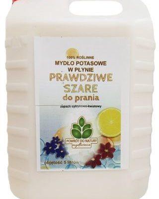 Mydlarnia Mydło potasowe Prawdziwe szare do prania w płynie zapach cytrynowo-kwaitowy 5l Powrót do natury 5907078150369
