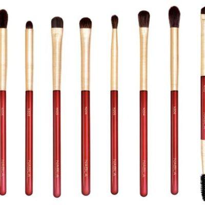 NABLA Ruby Complete Eye Brush Set - Zestaw pędzli do makijażu oczu
