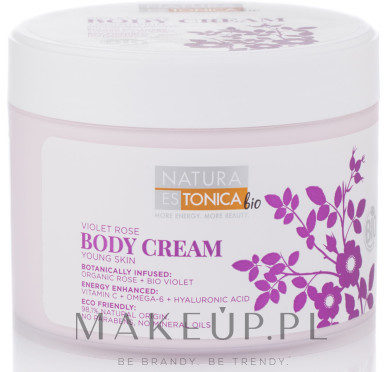 Natura Estonica Krem do ciała Róża i fiołek - Estonica Violet Rose Body Cream Krem do ciała Róża i fiołek - Estonica Violet Rose Body Cream
