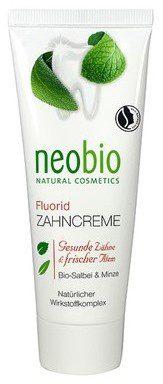 NeoBio Pasta do zębów z fluorem, ksylitolem, wyciagiem z szałwi i mięty EKO 75 ml