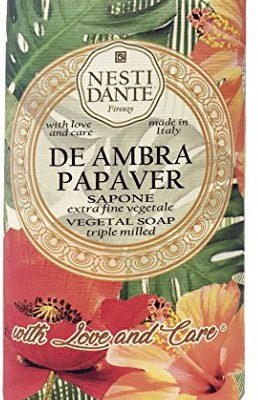 NESTI DANTE Florence Italy: with Love and Care de Ambra Papaver mydła (250 G) ND1355106