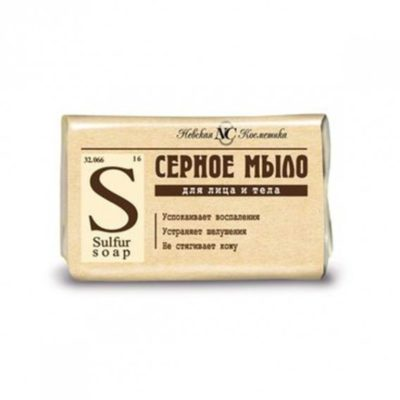 Nevskaya Cosmetica NC Mydło Siarkowe do skóry problematycznej 90G NC710