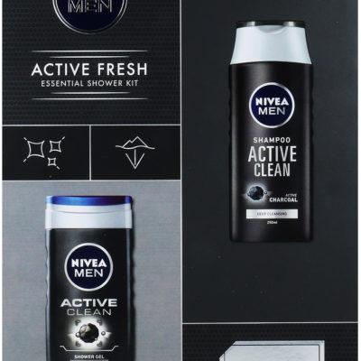 Nivea Men Active Fresh Zestaw Żel Pod Prysznic 250ml + Szampon 250ml