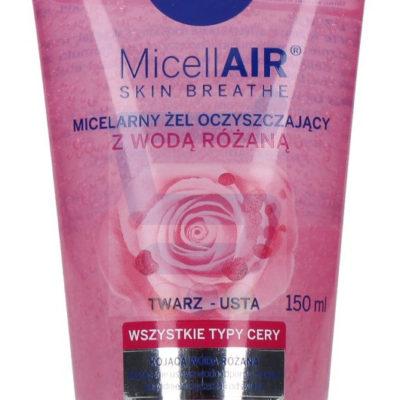 Nivea MicellAir Micelarny żel do mycia twarzy z wodą różaną 150 ml