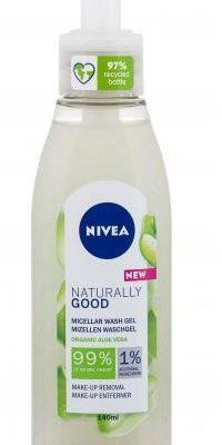 Nivea Nivea Naturally Good Micellar Wash Organic Aloe Vera żel oczyszczający 140 ml dla kobiet