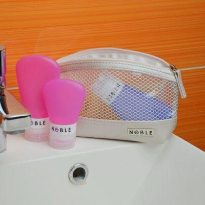 Noble Cosmetic Mała przezroczysta wodoodporna kosmetyczka ST008 ST008