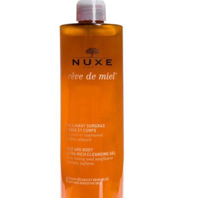 Nuxe Reve de Miel Gel lavant surgras visage et corps 400ml