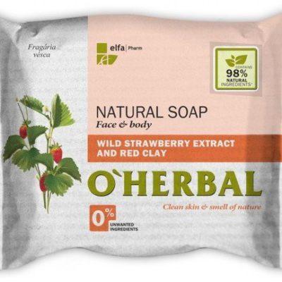 O'Herbal O'Herbal, mydło w kostce Poziomki leśne i Czerwona glinka, 100 g