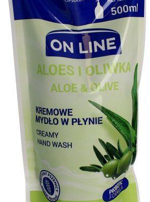 On Line Mydło kremowe w płynie Aloes i Oliwka uzupełnienie 500ml