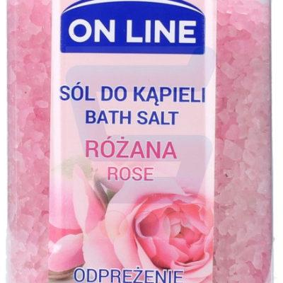 On Line On Line Sól do kąpieli Różana 800 g