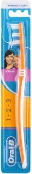 Oral B Oral B 1-2-3 Classic Care szczoteczka do zębów medium Orange
