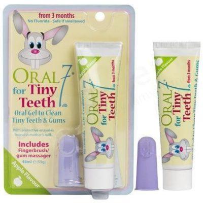 Oral7 Oral7 Tiny Teeth silikonowa nakładka na palec wraz z żelem 48 ml
