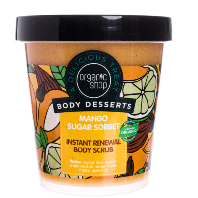 Organic Shop Body Desserts Peeling do ciała Mango Sugar Sorbet 450 ml SIBERICA