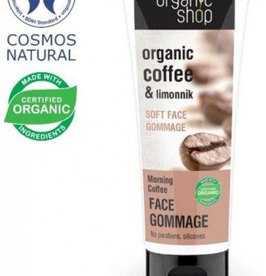 Organic Shop Kawa Poranna Delikatny Scrub Gomaż Do Twarzy 75ml