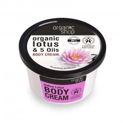 Organic Shop naturalny odmładzający krem do ciała Lotos 250ml