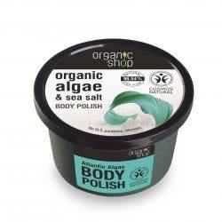 Organic Shop naturalny odświeżający peeling do ciała Algi atlantyckie 250ml