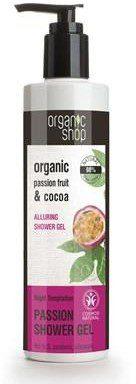 Organic Shop Passion Fruit & Cocoa Alluring Shower Gel żel pod prysznic z masłem kakaowym i ekstraktem z marakui 280ml 42949-uniw