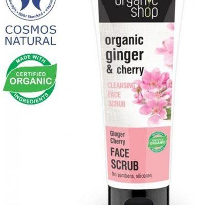 Organic Shop Wiśnia Imbirowa Oczyszczający Scrub Do Twarzy 75ml