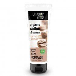 Organic Shop wygładzający peeling gommage do twarzy Kawa 75ml