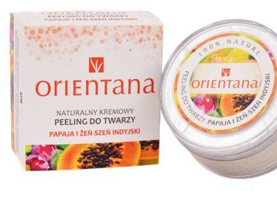 Orientana Naturalny Kremowy Peeling do Twarzy PAPAJA I ŻEŃSZEŃ INDYJSKI, 50 g ORI05013 [2080421]