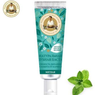 Pierwoje Reszenie Mini pasta do zębów MIĘTOWA Świeży oddech i ochrona przed próchnicą 30ml