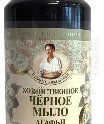 Pierwoje Reszenie Receptury Babuszki Receptury Babuszki Czarne mydło gospodarcze w płynie 1000ml RBA-6362