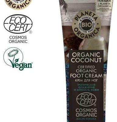 Planeta Organica Organic Coconut Krem do stóp Natychmiastowe nawilżenie i zmiękczenie 75ml