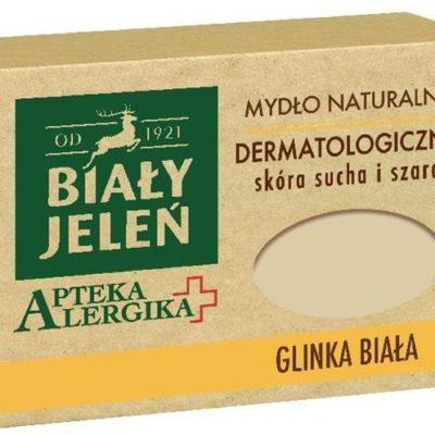 Pollena Apteka Alergika mydło naturalne dermatologiczne do skóry suchej i szarej Glinka Biała 125g