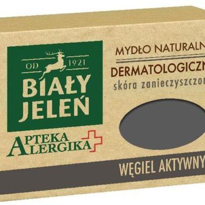 Pollena Apteka Alergika mydło naturalne dermatologiczne do skóry zanieczyszczonej Węgiel Aktywny 125g