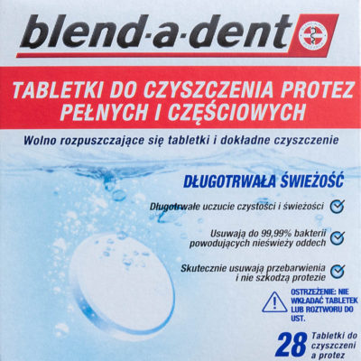 Procter & Gamble BLEND-A-DENT 28szt. - Tabletki do czyszczenia protez zębowych