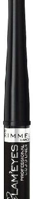Rimmel Glameyes Liquid Liner - Płynny eyeliner do kresek 001 czarny 3,5ml