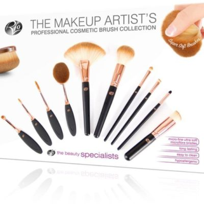 Rio Beauty Makeup Artist Professional Cosmetic Brush Collection zestaw 10 profesjonalnych pędzli i szczotek z włosiem z mikrofibry do makijażu