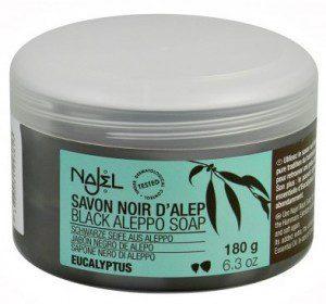Savon Noir Mydło w kostce Czarne z Eukaliptusem 180g NAJEL