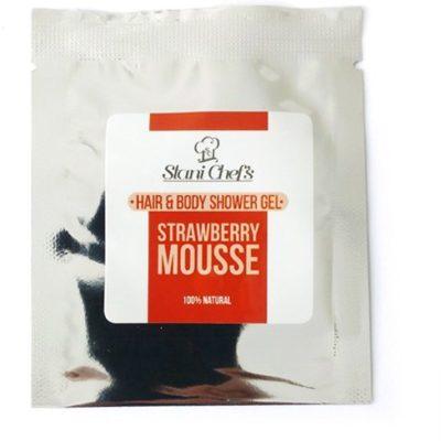 Sayaz Sayaz Naturalny żel pod prysznic do ciała i włosów truskawka 5 ml