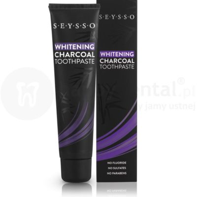 Seysso Charcoal 75ml wybielająca pasta do zębów z aktywnym węglem